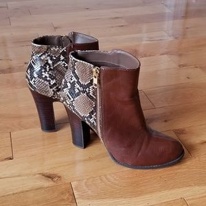 Kenneth Cole Snakeskin Booties